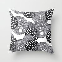 planets Throw Pillows featuring PLANETS by Mari