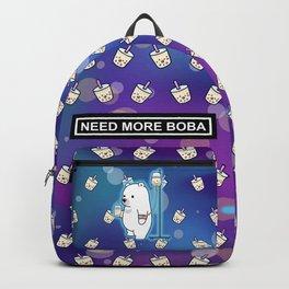 Bubble Tea Space Bear Backpack
