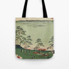 Spring Trees Mountain Ukiyo-e Japanese Art Tote Bag
