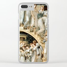 "Edward Burne-Jones ""The Golden Stairs"" Clear iPhone Case"