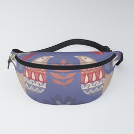 BIRDS AND FLOWERS Fanny Pack