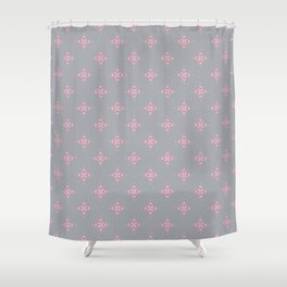 Ornamental Pattern with Grey and Pink Colourway Shower Curtain