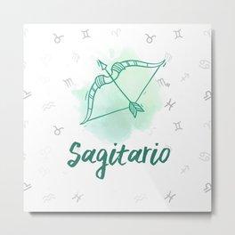 Zodiac signs collection - Sagittarius/Sagitario Delvallediseno Metal Print