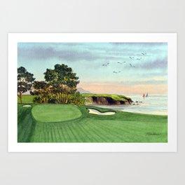 Pebble Beach Golf Course 5th Hole Art Print