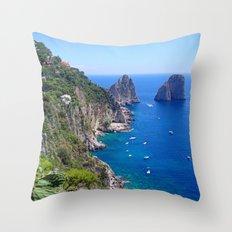 Isle of Capri Coastline Throw Pillow