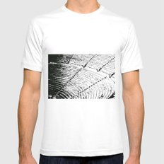 Steps stamp Mens Fitted Tee MEDIUM White