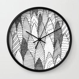 Pattern Trees Wall Clock