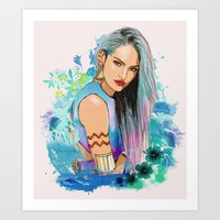 aquarius Art Prints featuring Aquarius by Sara Eshak