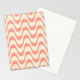 Summer in Rio - Living Coral Copa Cabana Pattern Stationery Cards