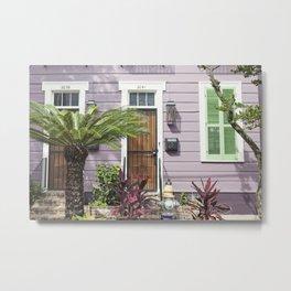 New Orleans Marigny Purple House Metal Print