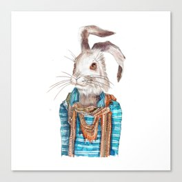 Hare hipster (male) Canvas Print