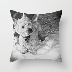 This Is Snow More Fun Throw Pillow