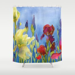 Blue Skies and Happiness Shower Curtain