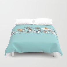 There are Super Heroes Everywhere Duvet Cover