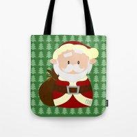 santa Tote Bags featuring Santa by Alapapaju