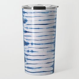 -A22- Indigo Traditional Original Arteresting Artwork. Travel Mug