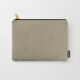 Solid Color Pantone Twill 16-1108 Pale Brown Carry-All Pouch