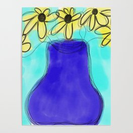 Yellow bouquet Poster