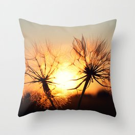 sunset in august Throw Pillow