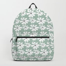 Daisies In The Summer Breeze - Green Grey White Backpack