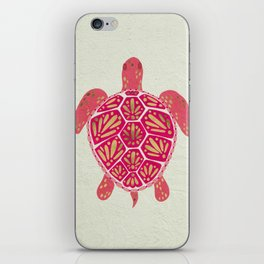 Sea Turtle in Pink & Gold iPhone Skin