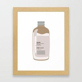 Tip in a Bottle №8 Framed Art Print