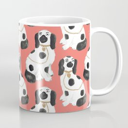 Staffordshire Dog Figurines No. 2 in Neon Peach Coffee Mug