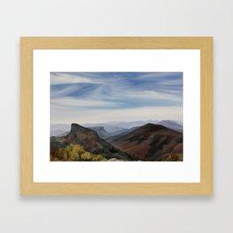 Hawksbill Mountain Framed Art Print