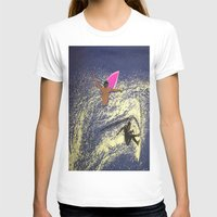 surfing T-shirts featuring SURFING by aztosaha