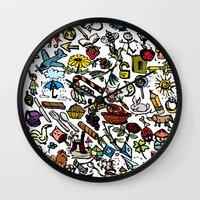 the 100 Wall Clocks featuring 100 things by Michelle Behar