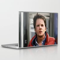 marty mcfly Laptop & iPad Skins featuring Marty McFly by Kaysiell