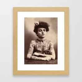 Maud Stevens Wagner Original 1907 Tattooed Lady Framed Art Print