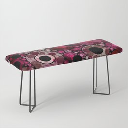 Vibrant Abstract Pink Bubbles design Bench