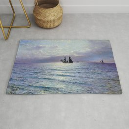 Sea 1898 By Lev Lagorio | Reproduction | Russian Romanticism Painter Rug