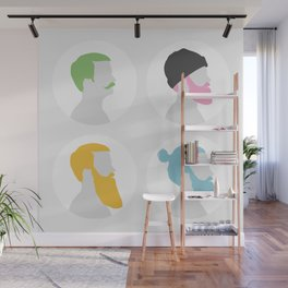 4x Mister hipster Wall Mural