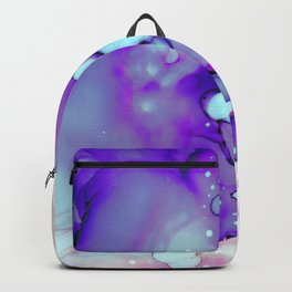 Becoming Abstract Painting in Amethyst Rose Backpack