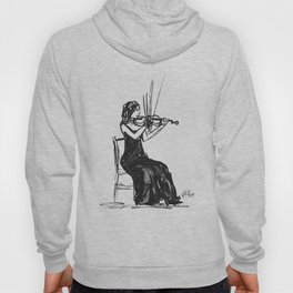 Playing the violin Hoody