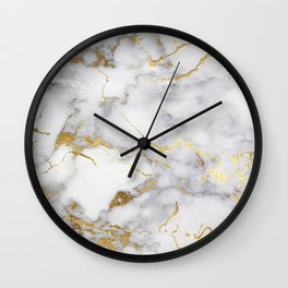 Italian gold marble Wall Clock