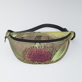 Rainbow Floral Yellow Lime Fanny Pack