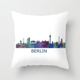 Berlin City Skyline HQ Throw Pillow