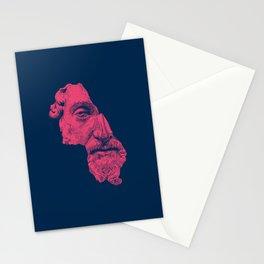 MARCUS AURELIUS ANTONINUS AUGUSTUS / prussian blue / vivid red Stationery Cards