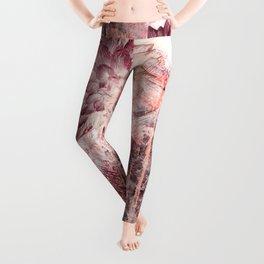 Mauve Grunge Flower Leggings