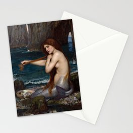 Mermaid by John William Waterhouse, 1900 Stationery Cards