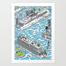 THE CRUISES ADVENTUROUS Art Print