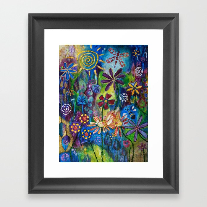 Peace, Love & Joy Framed Art Print