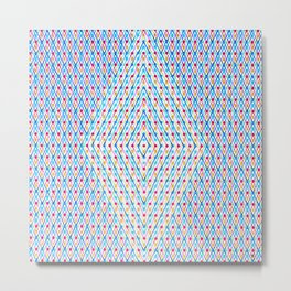 Dots and Triangles Metal Print