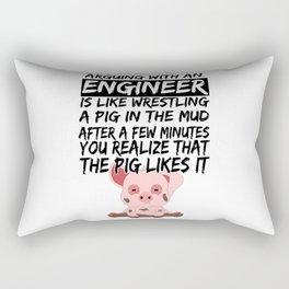 Civil Engineer Sarcastic Sarcasm Pig Piglets Rectangular Pillow