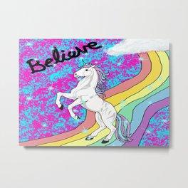 Believe (Unicorn) Metal Print