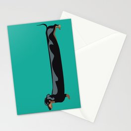 dachshund - wiener dog - i love my wiener Stationery Cards