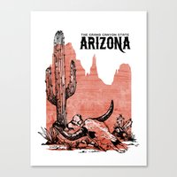 arizona Canvas Prints featuring Arizona by Krikoui